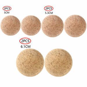 2Pcs Cork Ball Wooden Cork Ball Stopper for Wine Decanter Carafe Bottle Decor