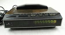 Vintage COBRA Telephone Alarm Clock Radio Phone Faux Wood Walnut RP-710S RARE