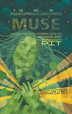 MUSE / PASSION PIT 2010 MINNEAPOLIS CONCERT TOUR POSTER - Progressive Rock Music
