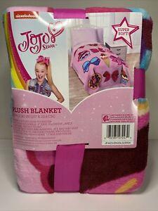 """Nickelodeon JoJo Siwa Follow Your Dreams Plush Twin Blanket 62"""" x 90"""" New"""