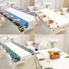 Hot Christmas Tree/Snowman/Santa/Xmas Bell Pattern Tablecloth Dining Table Decor