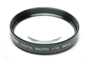 Bower Digital Full Frame Auxiliary Macro +10 Lens With 58mm Thread. Clean.