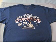 NY Giants 2007 Conference Champs Short Sleeve T-Shirt By Reebok; Size XL!