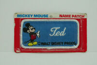 Walt Disney Prods. Name Patch TED Mickey Mouse New Free Shipping
