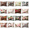 LN_ CN_ VIVID FLOWER ROSE THROW PILLOW CASE SOFA BED CUSHION COVER HOME DECOR