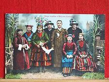 Farbkarte - Lowicz - Polen - Grupa weselna z Ksiestwa Lowickiego - Hochzeit   m1