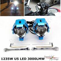 125W Motorcycle CREE U5 LED Driving Headlight Fog Lamp Spot+Switch - Universal