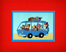 ROAD TRIP PRINT PROFESSIONALLY MATTED Hanna Barbera Yogi Quick Draw Snagglepuss