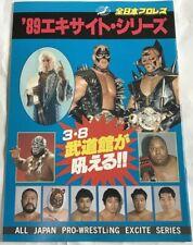 Road Warriors  Ric Flair All Japan Pro Wrestling 1989 Program Book
