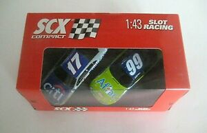 SCX Compact Nascar Twin Pack 1/43 Slot Cars NEW OLD STOCK #17 & #99
