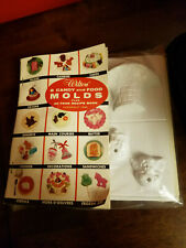 Vintage 1956 Wilton Multi Holiday Candy Food Molds w Recipe Book NIP
