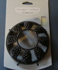 YANKEE CANDLE PINECONES BRONZE COLORED ILLUMA-LID JAR CANDLE TOPPER NWT