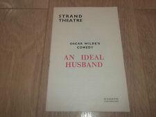"STRAND THEATRE PROGRAMME "" AN IDEAL HUSBAND "" BY OSCAR WILDE 1965"