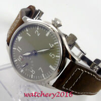 44mm PARNIS Sterile Dial Steel 17 Jewels 6497 Hand Winding movement men's Watch