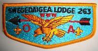 MERGED OA SWEGEDAIGEA LODGE 263 468 58 SILVERADO AREA CA PATCH HAWK SERVICE FLAP