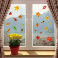 Fall Leaves Window Clings -Thanksgiving Maple Decoration Autumn Blessing Sticker