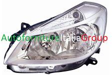 FARO FANALE PROIETTORE ANTERIORE SX P/CROMATA H7-H7 RENAULT CLIO 05>09 2005>2009