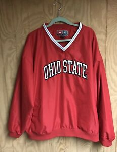 THE OHIO STATE BUCKEYES MENS PULLOVER JACKET 2XL PROPLAYER RED