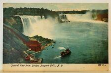 Vintage Niagara Falls, New York NY Postcard ~ General View from Bridge ~ 1907