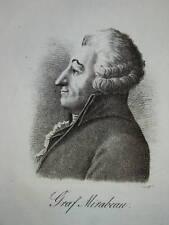 Portrait MIRABEAU AIX PROVENCE REVOLUTION FRANCAISE XIX