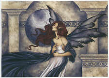 """Amy Brown Signed Limited Edition Print Evening Whispers Fairy Moon 2/75 13x19"""""""