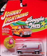 Johnny Lightning Boogie Van 1976 Ford Econoline 150 White Lightning Gray