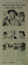 "1941 Laurel~Hardy ""Great Guns"" 20th Century Fox Movie Camera Filmo 8 Promo AD"