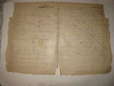 Antique 1880 Bedstuy Bedford Stuyvesant Brooklyn New York City Handcolor Map Nr