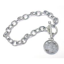 NEW  Year to Remember Sterling Silver Toggle Dime Coin Bracelet 2012
