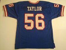 UNSIGNED CUSTOM Sewn Stitched Lawrence Taylor Blue Jersey - M, L, XL, 2XL