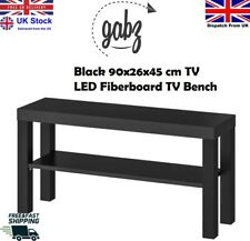 GABZ LED LCD TV Holder 90x26x45cm Living/Sitting Room Black TV Bench Table Stand