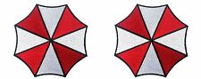 Resident Evil Umbrella Corporation Logo Iron on Patch set of 2 Iron on