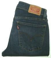 LEVI'S 710 WOMENS SZ 26 MEASURED W26 X L30 SUPER SKINNY LEG BLUE JEANS FREE POST