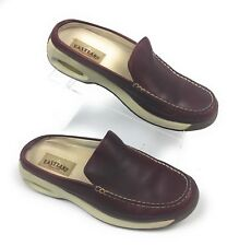 Eastland Brown Leather w/ Air Soles  Mules Slip On Clogs Women's 10M