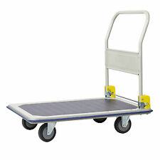 Jumbo 370kg Flat Bed Medium Platform Trolley Folding handle Heavy Duty Trolley