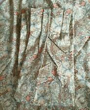 Morris & Co Golden Lily Minor MTM Double Pinch Pleat Lined Curtains & 2 Tiebacks