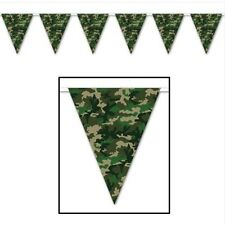 Camouflage Camo Army Military Bunting Flag Banner 12ft Party Outdoor Decoration