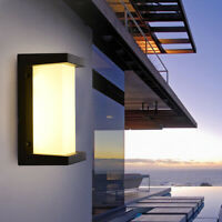 Modern LED Exterior Wall Light Sconce Wall Lamp Fixture Outdoor Porch IP65 Light