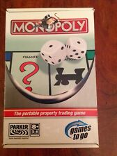 Monopoly Travel game.suitable for 8 years plus.by Parker. used once.