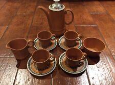 Retro Inca Wood And Sons 1970's Coffee Set
