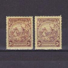 BARBADOS 1925-34, SG# 234,234a, Shades, MH