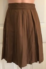 EXPRESS, Size 7, Brown, Rayon/Polyester Pleated Skirt