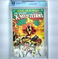 MARVEL DC PRESENT Featuring X-Men Teen Titans # 1 CBCS 9.8 ~like CGC ~ White Pgs