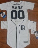 Detroit Tigers Cool Base MLB Majestic Toddler Replica Jersey add name & number