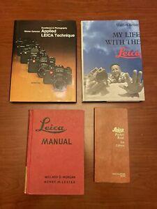 4 Vintage LEICA BOOKS Walter Benser Leica Manual Pocket Book 6th Ed + Applied