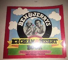 Ben & Jerry's ice Cream And Dessert Recipe Paperback Book