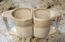 2 PADILLA Pottery Glazed Stoneware Coffee Mugs Tea Cups Artist Signed