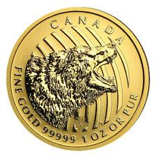 1 oz Gold Grizzly 2016 - 200 Dollar Kanada Goldmünze 999,99 Call of the Wild