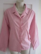 Ladies size 22 George pink burgundy white fine striped blouse top