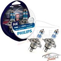Philips RacingVision H4 bis zu 150% mehr Halogenlampe 12342RV+S2 Duo 2 Stk /-